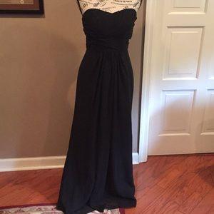 David's bridal black gown size 6